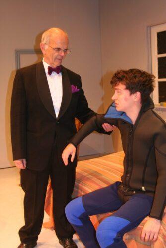 Mr Braddock Enquires If Benjamin Likes His Graduation Present, The Scuba Diving Suit