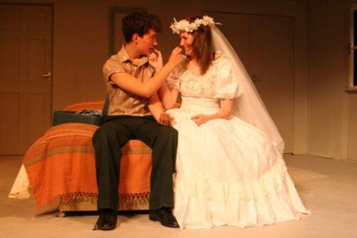 Wilson Smith As Benjamin Braddock And Frances McKinnel As Elaine Robinson