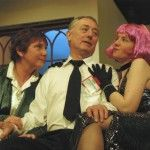 Jenni Rushton As Ruella Wells, Ian Mitchell As Harold, The Hotel Security Officer And Sarah Warner As Phoebe