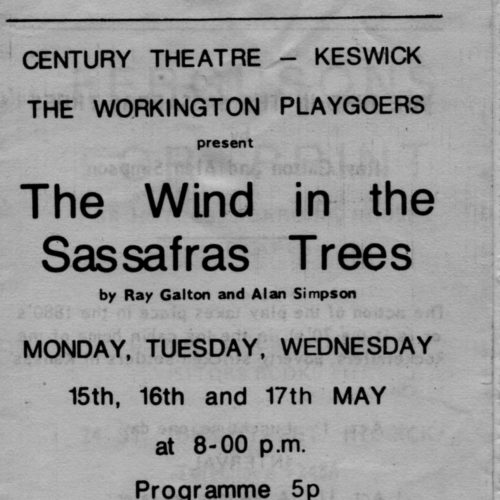 Programme For The Century Theatre, Keswick