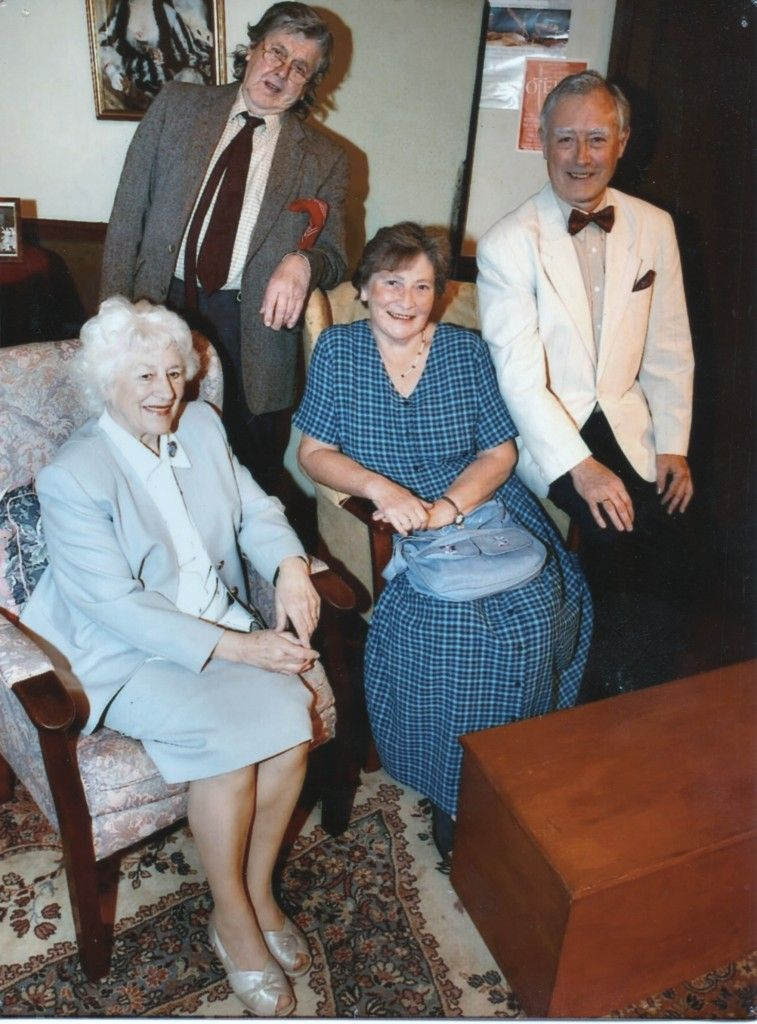 "Cast of ""Quartet"" Standing: Geoff Hool as Wilfred Bond Seated: Marjorie Hool as Jean Horton, Barbara Singleton as Cecily Robinson and Ian Mitchell as Reginald Paget"