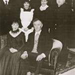 The Cast Standing: Geoffrey Hall, Maria Dazley, Pam Hayes And Dave Crogan Sitting: Grace Walker And Ian Mitchell