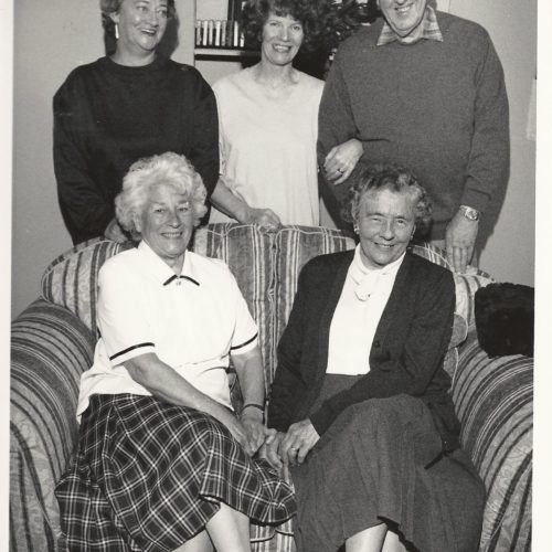 Standing: Celia Clifton, Janet Whitehead, Geoff Hool Sitting: Marjorie Hool And Margaret Graham