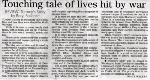 Times And Star Review By Tracy Walker