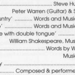 Shakespeare Country - Singing By The Cast And Music Composed And Performed By Stephen Hunter-Brown And His Band