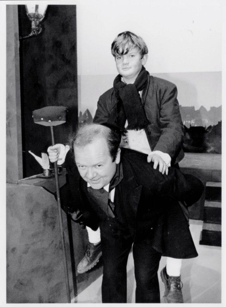 Mike And Richard Savage As Bob Cratchet And Tiny Tim