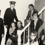 L/R Jack Farish, Graham Mitchell, Judy Blake, Ron Dickens, Roland Earl, Helen Ivison, Keith Beattie And Ian Mitchell