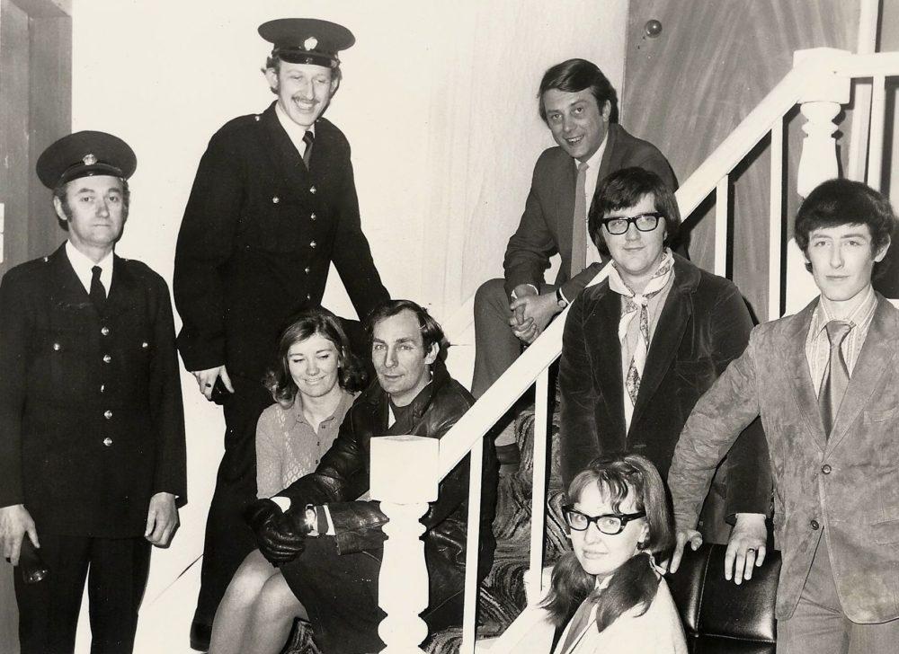 L/R Jack Farish, Graham Mitchell, Judy Blake, Ron Dickens, Roland Earl, Helen Ivison, Keith Beattie And Ian Mitchell