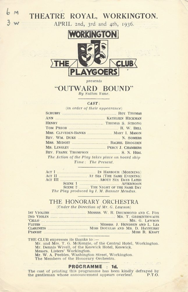 Outward Bound - A Honorary Orchestra Played