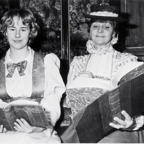Interested In Their Reading Are Frances Nurse As Cecily And Joan Dawson As Miss Prism