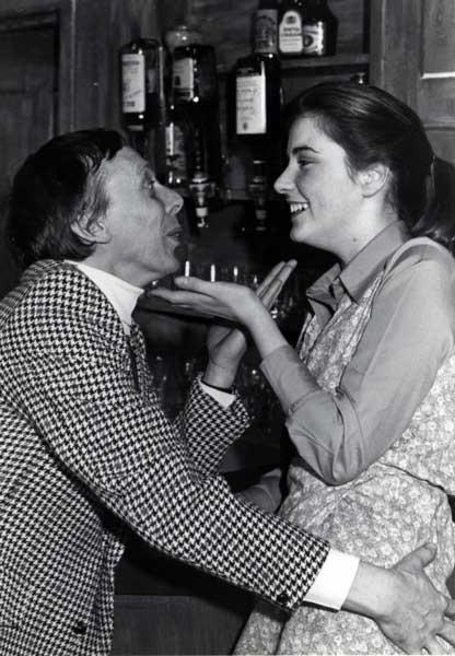 Albert Polignac (Frank Yearsley) and Beth Barton (Jane Dickens) in a romantic mood at the bar.