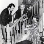 Concern On The Stairs As Col. Wagstaffe (Ted Younghusband) Puts His Foot In It! Looking On Are Steve Baxter And Sylvia Heaney