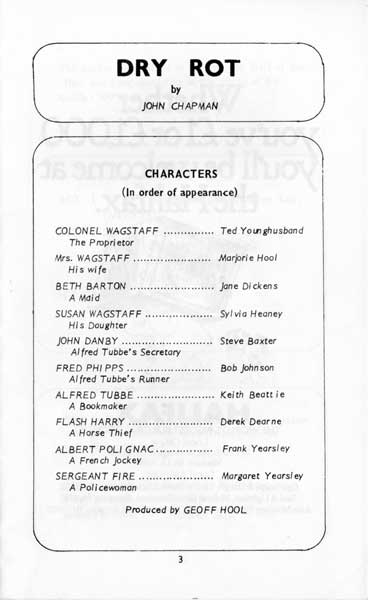 The programme - The Cast