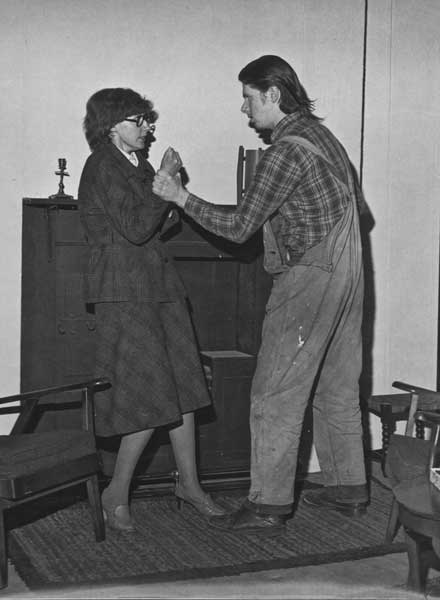 Sandy Hind as Hester Byfield with Stuart Sorensen as Larry Thompson