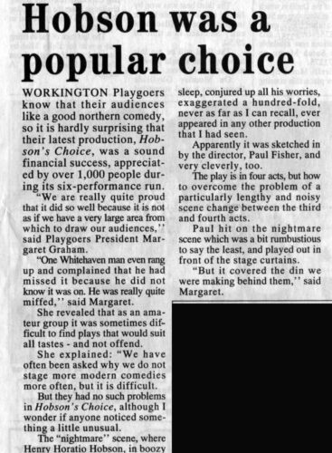Times And Star Review 6th October 1995