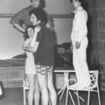 Keith Beattie As Nicholas And Jenni Rushton As Virginia Look Down On Mere Mortals Muriel Armstrong As Anne And Chris Wimhurst As Philip