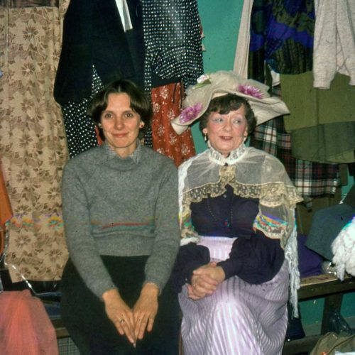 Louise Jackson And Rose Uhrig In The Dressing Room Under The Auditorium
