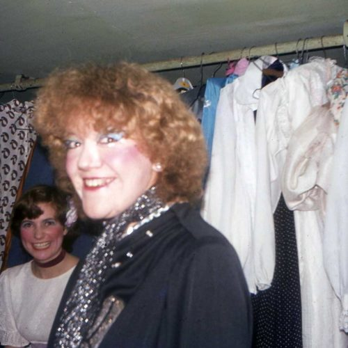 Anne Meldrum And Dianne Clarke In The Dressing Room Under The Auditorium