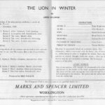 Lion In Winter Programme