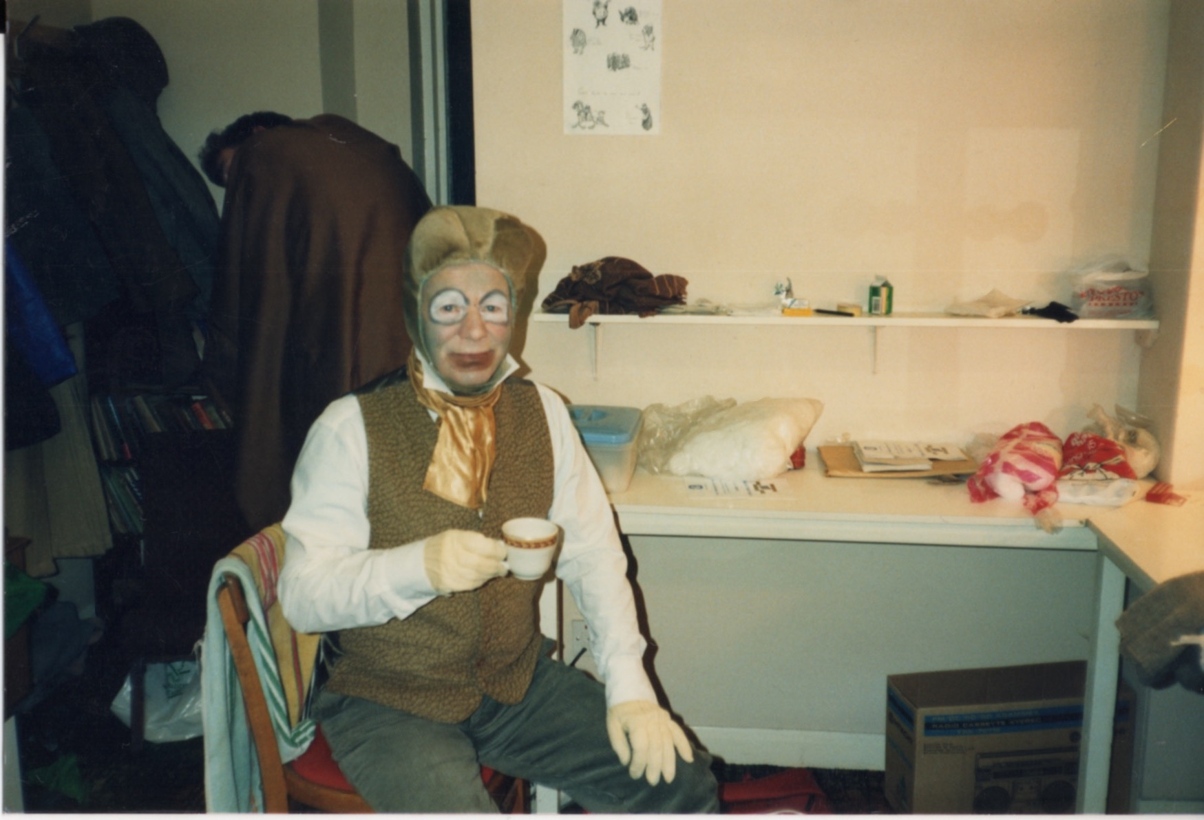 Toad played by John Skelton taking a well earned rest with a cup of tea!