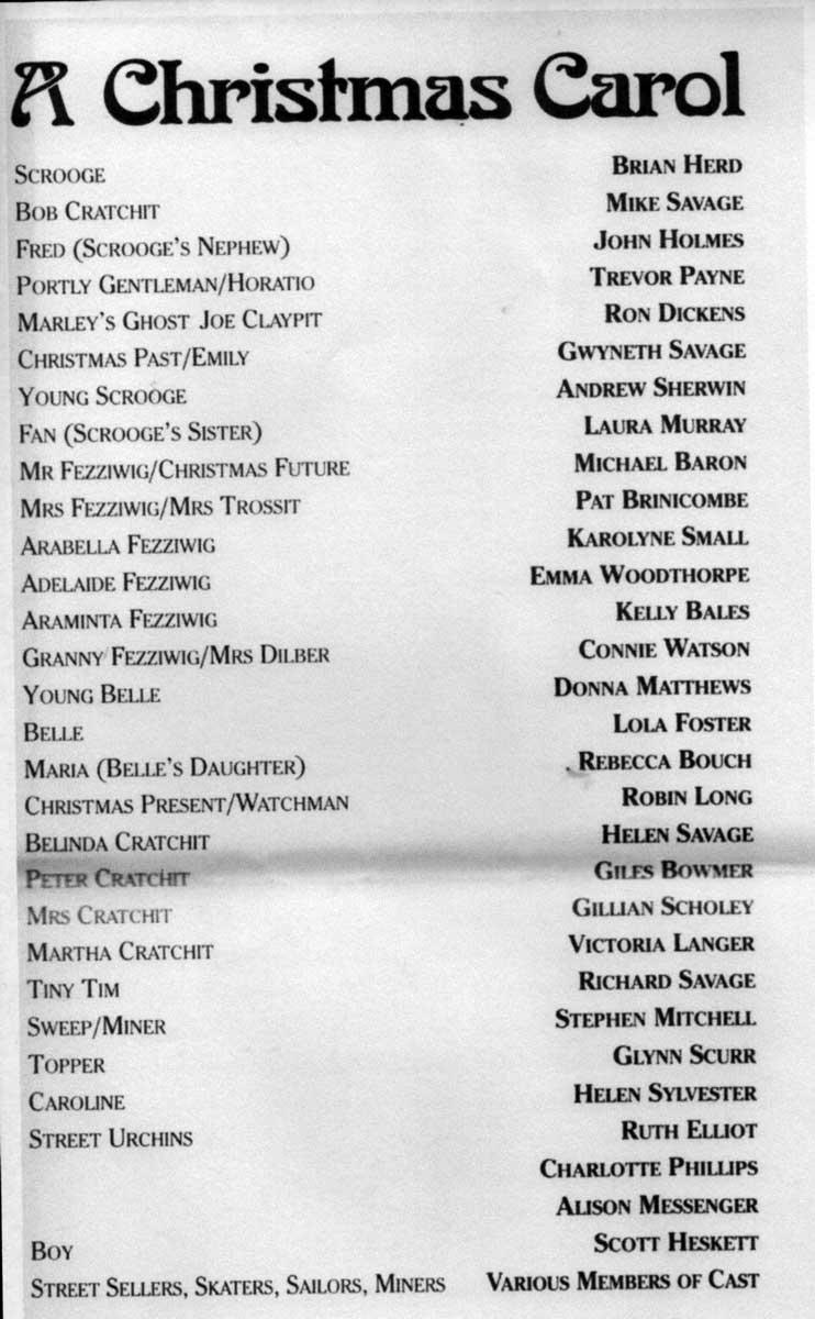 The Programme - Cast