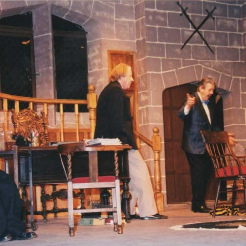 Geoff Hool As Andrew Wyke. With Dave Stockwin As Milo Tindle,