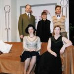Cast Standing L/R Brian Young, Sarh Delorme And Roy Blackburn. Sitting Jane Douglas And Grace Walker