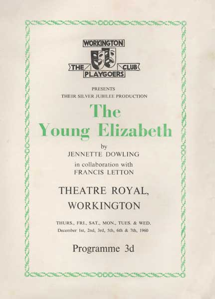 Young Elizabeth, One Of The Plays Chosen For The Silver Jubilee Programme