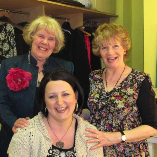 Director Pat Brinicombe With Cast Members Karen Thompson And Janet Whitehead