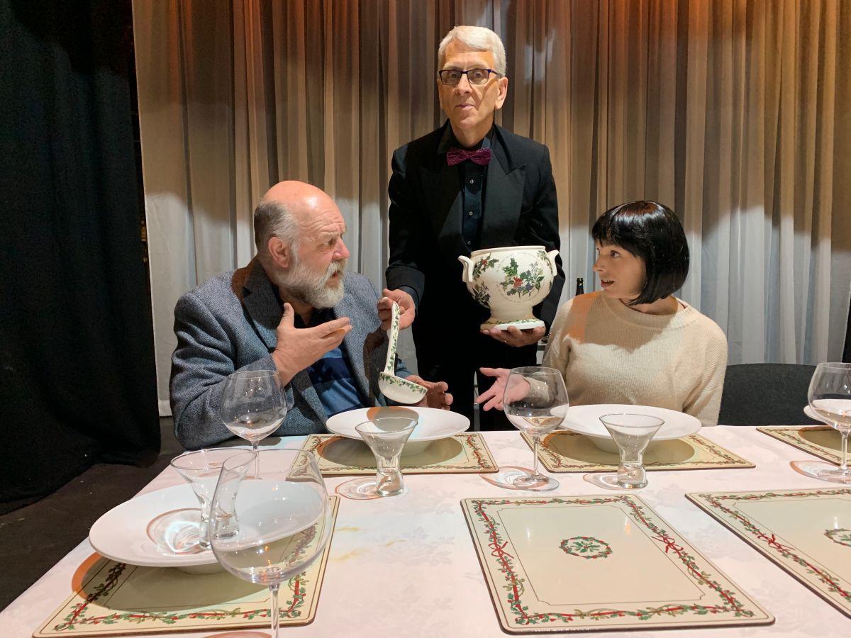 Cast of Dinner in rehearsal