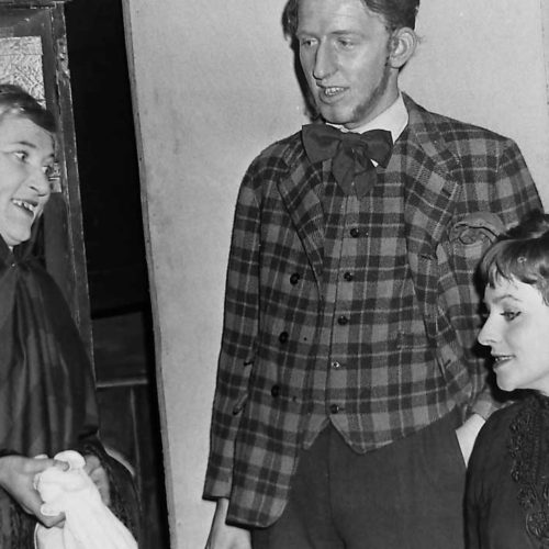 Ada Figgins (Dorothy Powers Chats With Jim Heeler (Graham Mitchell) And Vickey Hobson (Denise Clark)