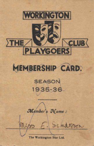 First Membership Card 1935-1936