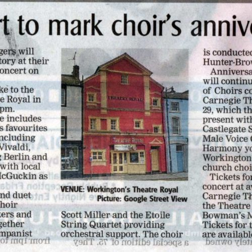 The Carnegie Singers Hold Their Annual Concert In The Theatre Royal