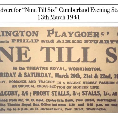 Advert For Nine Till Six In The Cumberland Evening Star