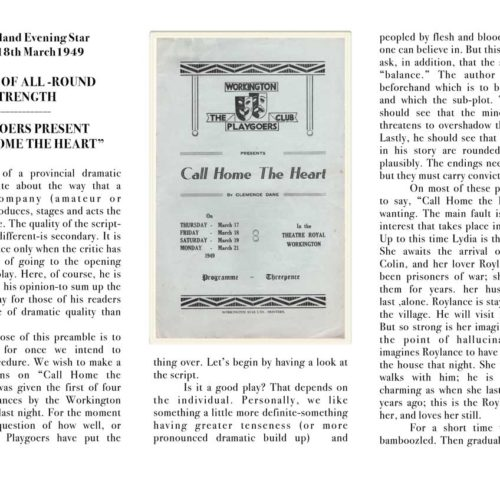 Cumberland Evening Star Review March 1949