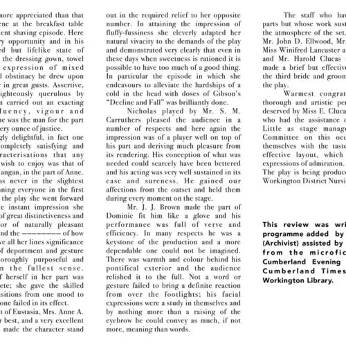 Cumberland Evening Star Review November 1942