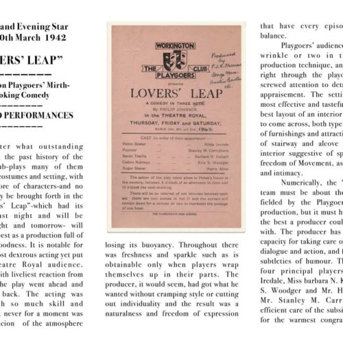 Cumberland Evening Star Review March 1942