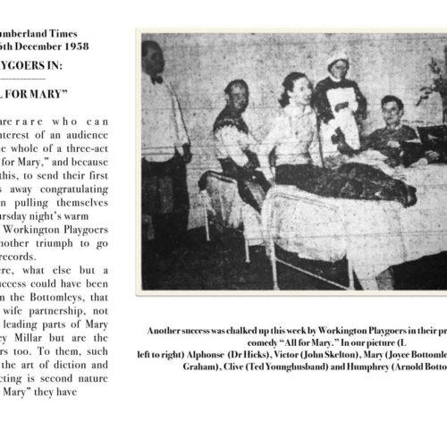 West Cumberland Times Saturday 6th December 1958