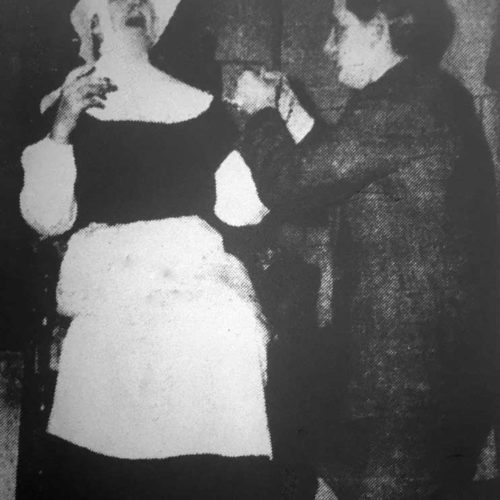 Sister Bonaventure (Mary McGuckin) Has Cut Her Finger Dressed By Dr. Jeffries (Ted Younghusband)