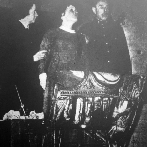 Sarat Carn (Barbara Hunter) Is Restrained By The Warder (Charles Wheeler) And Wardress (Mary Brown)