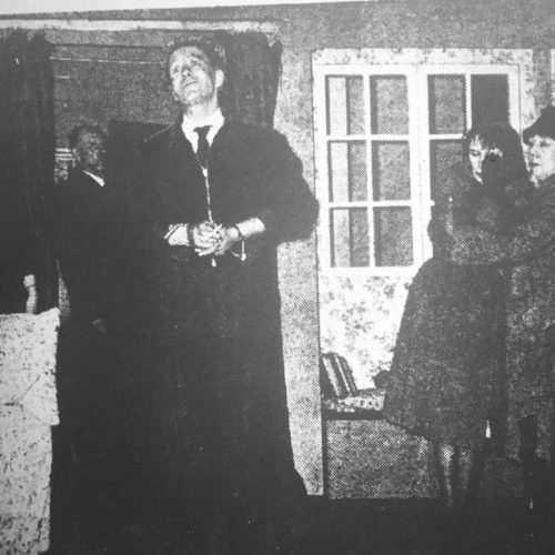 And Finally One Of Self Pity As Manacled By Inspector (Charles Wheeler) He Waits For The Inevitable End Watched By Olivia, Dora, And Mrs Terence (Susan Murray)