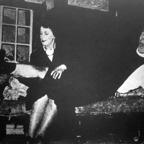 Miss Skillon (Mary Brown) Renders First-aid To The Vicar's Injured Knee