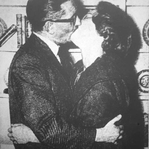 Howard Holt (Ivor Newton) And Julie Grant (Joan McClymont) Embrace