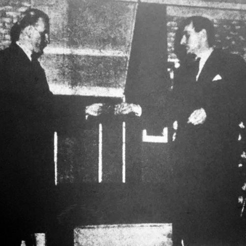 Norbury (D.H. Evans) Hands Over The Gun To The Inspector (J.H.Gale)