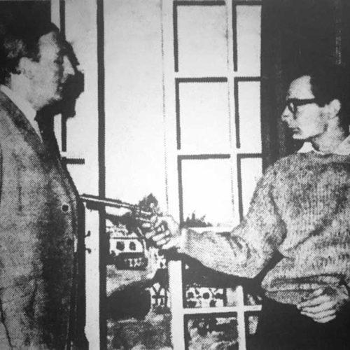 David Rodingham (Ron Dickens) Shoots His Brother Clive (R. Yowart)