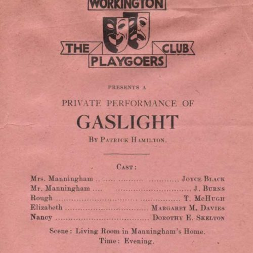 Programme For The Private Production Of Gaslight In 1945