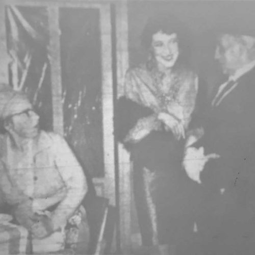 "Chloe (played By Dorothy Powers) ""sweetens"" Up Her ""boy Friend"" Hobby (played By Haydn Hanna), While A Rather Disgusted Mrs Parsons (played By Audrey Chandler) Looks On"